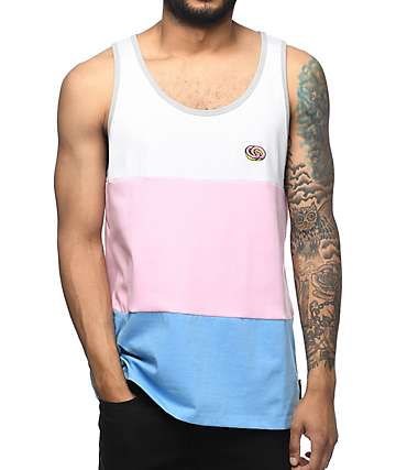 Odd Future White, Pink & Blue Tank Top
