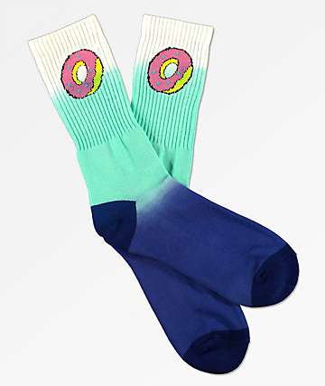 Odd Future White & Blue Donut Crew Socks