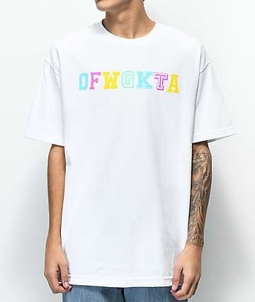 Odd Future Wolf Gang Collegiate White T-Shirt