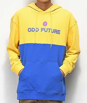 Odd Future Yellow & Blue Colorblock Hoodie