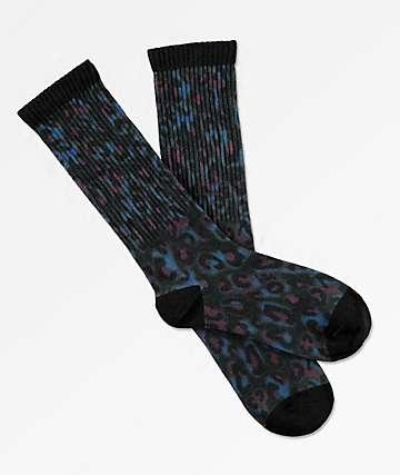 Odd Future calcetines negros de leopardo