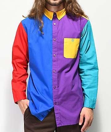 Odd Future camisa de bloques de color