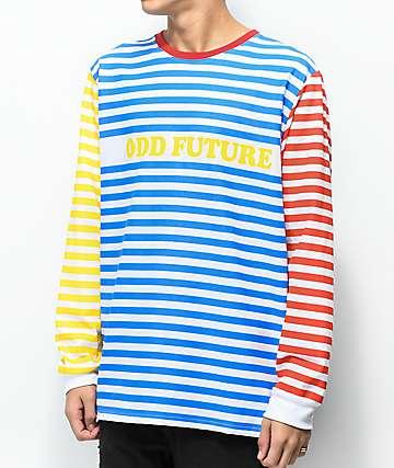 Odd Future camiseta de manga larga de a rayas de multicolor
