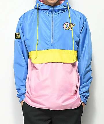Odd Future chaqueta anorak diseño colorblock en azul, rosa y amarillo