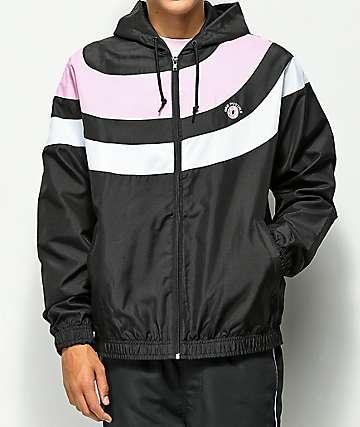 Odd Future chaqueta cortavientos de rayas en negro rosa y blanco