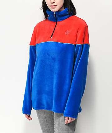 Odd Future chaqueta de polar técnico rojo y azul