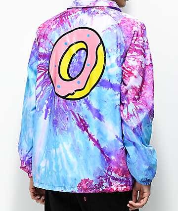 Odd Future chaqueta entrenador en rosa y morado con efecto tie dye