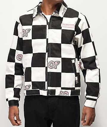Odd Future chaqueta negra y blanca de cuadros