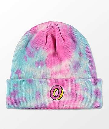 Odd Future gorro en rosa y azul con efecto tie dye