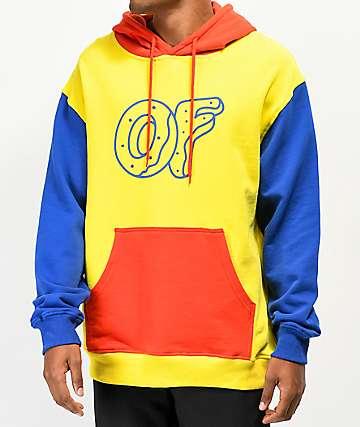 Odd Future sudadera con capucha de colores primarios