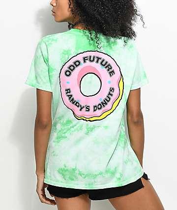 Odd Future x Randy's Donuts camiseta con efecto tie dye en color menta