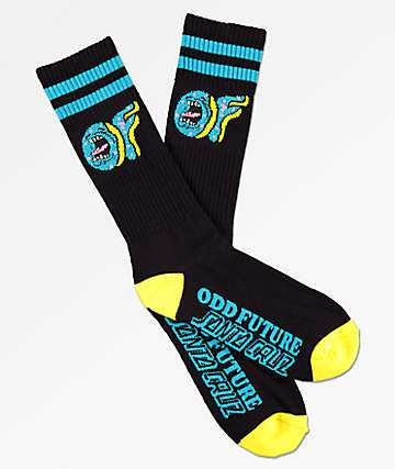 d4c25271aad3 Odd Future x Santa Cruz Black   Yellow Crew Socks