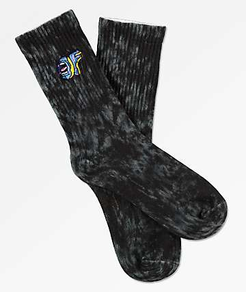 Odd Future x Santa Cruz Black Wash Crew Socks