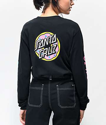 Odd Future x Santa Cruz Donut Black Long Sleeve T-Shirt