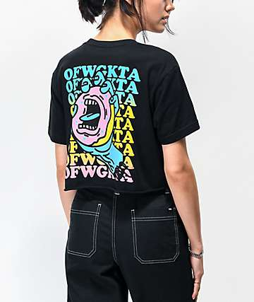 Odd Future x Santa Cruz Donut Hand Black Crop T-Shirt