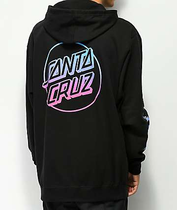 Odd Future x Santa Cruz Fade Black Hoodie