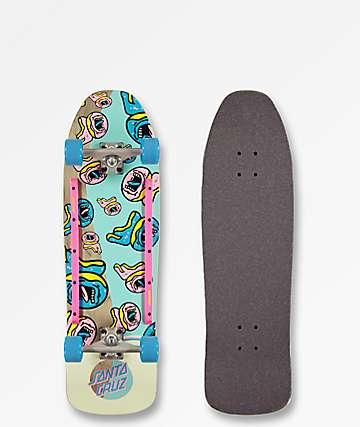 "Odd Future x Santa Cruz Screaming Donut 9.35"" cruiser completo de skate"