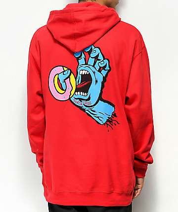 1be9242035ec66 Odd Future x Santa Cruz Screaming Donut Red Hoodie