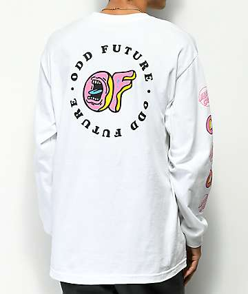 Odd Future x Santa Cruz Screaming Donut White Long Sleeve T-Shirt