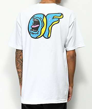 Odd Future x Santa Cruz Screaming Donut camiseta blanca