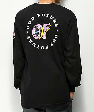 Odd Future x Santa Cruz Screaming Donut camiseta negra de manga larga