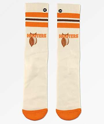 Odd Sox Hooters Varsity White Crew Socks