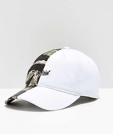 Official 50-50 gorra blanca y camuflada