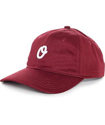 Official Miles Olo Burgundy Baseball Strapback Hat