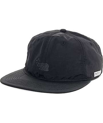 Official Quad Dolo Black Unstructured Strapback Hat