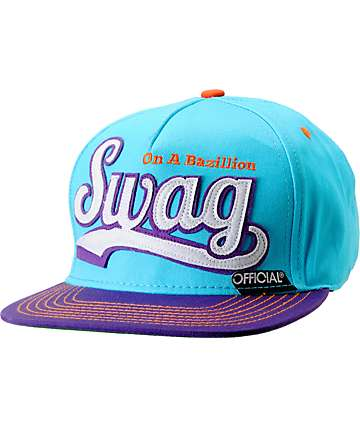 a77a5ff862c Official Swag Turquoise   Purple Snapback Hat