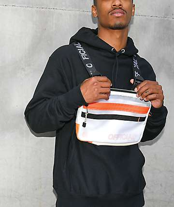 Official White & Orange Quad-Strap Chest Bag
