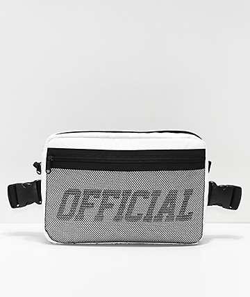 Official bolso utilitario de pecho blanco y negro