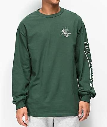 Old Friends Hugger Green Long Sleeve T-Shirt