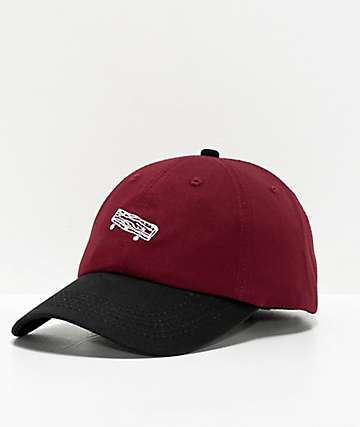 Old Friends Solo Board Burgundy and Black Strapback Hat