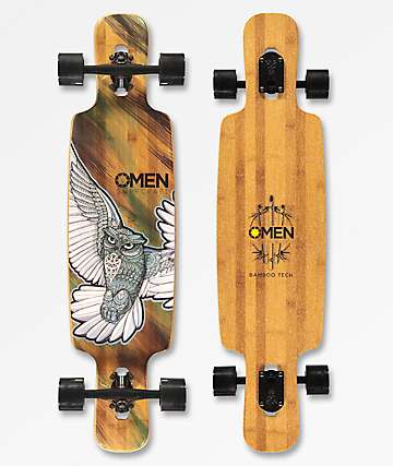 "Omen Fly By The Night 38"" longboard completo de bambú"