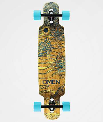 "Omen Heavenly Hills 36"" Drop Through Bamboo Longboard Complete"