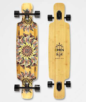 "Omen Mothra 41"" Double Drop Through Longboard Complete"
