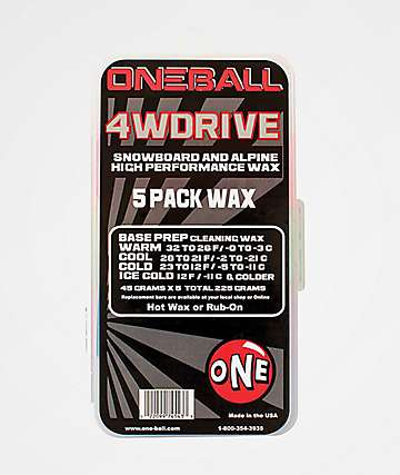 One Ball Jay 4WD 5 Pack Snowboard Wax