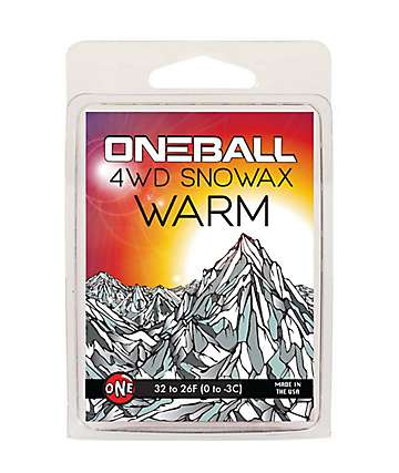 One Ball Jay 4WD Warm Red Mini Snowboard Wax