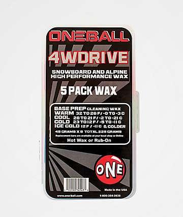 One Ball Jay 4WD paquete de 5 ceras de snowboard