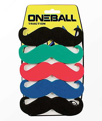 One Ball Jay 6-Pack Mustache Snowboard Stomp Pad