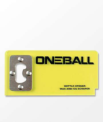 One Ball Jay Bottle Opener Snowboard Wax Scraper