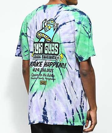 Open925 Fun Guys camiseta verde con efecto tie dye