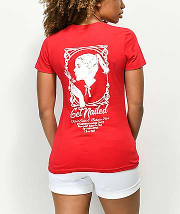 Open925 Get Nailed Red T-Shirt