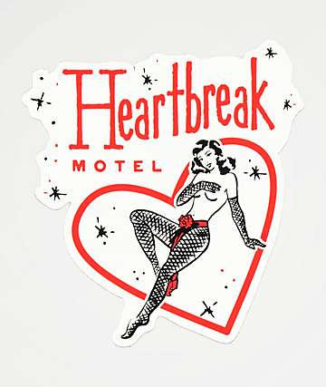 Open925 Heartbreak Motel Sticker