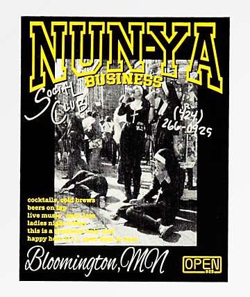 Open925 Nunya Business pegatina