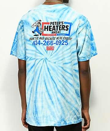 Open925 Peters Heaters camiseta azul con efecto tie dye
