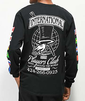 Open925 Players Club Black Long Sleeve T-Shirt