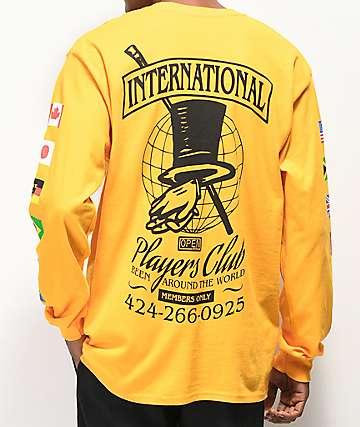Open925 Players Club camiseta amarilla de manga larga