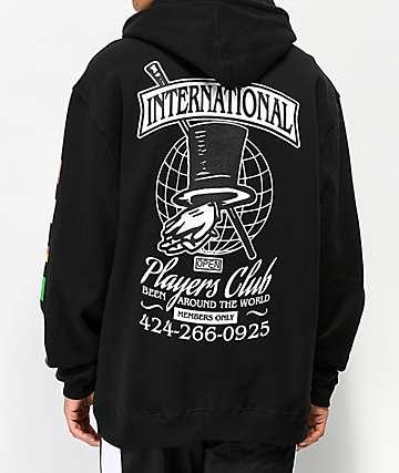 Open925 Players Club sudadera con capucha negra